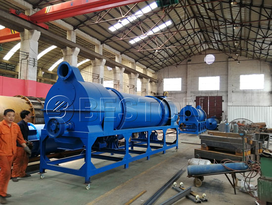 Beston Sugarcane Bagasse Charcoal Making Machine